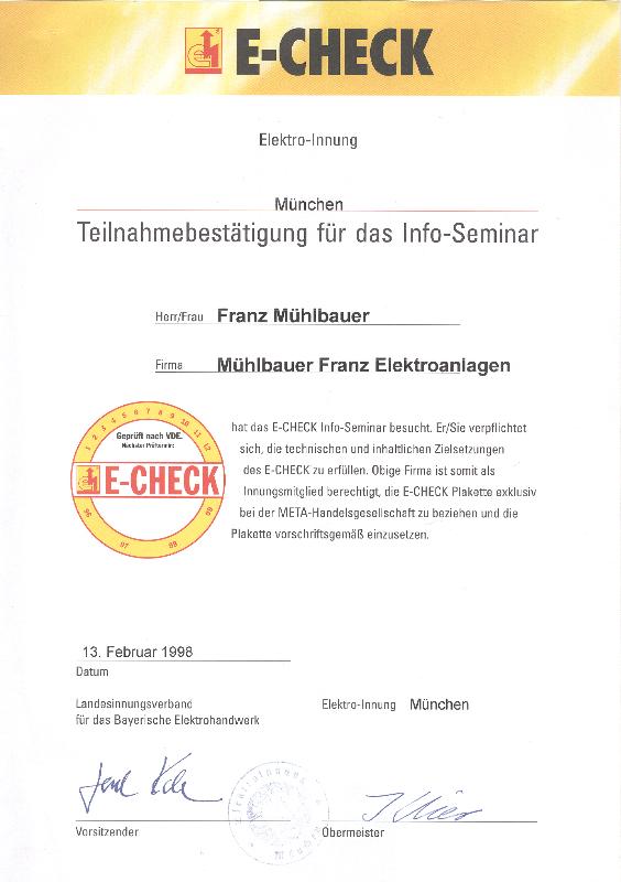 HMS Photovoltaik – Zertifikate